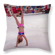 Leaping For Joy Throw Pillow