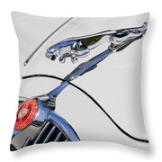 Leaping Jaguar Throw Pillow