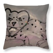Leaping Leopard Throw Pillow