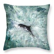 Leaping Salmon Throw Pillow