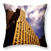Leaps Tall Buildings With A Single Bound - Skyscraper Throw Pillow