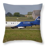 Learjet Used For Simulating Enemy Throw Pillow