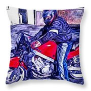 Learn How To Ride Throw Pillow