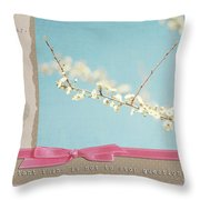 Learn Live And Hope Throw Pillow