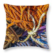 Learn The Ropes Throw Pillow