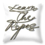 Learn The Ropes Rope Throw Pillow