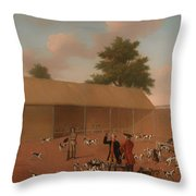 Learning About The Hounds Throw Pillow