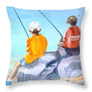 Learning And Concentrating Throw Pillow