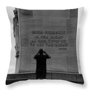 Learning From Lincoln Throw Pillow by James Brunker