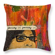 Learning From Yesterday - Journal Art Throw Pillow