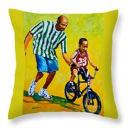 Learning To Rode Throw Pillow