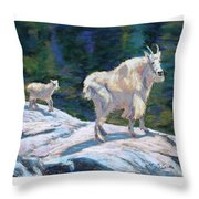 Learning To Walk On The Edge Throw Pillow