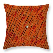 Leather In Love With A Lion Throw Pillow