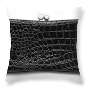 Leather Purse Throw Pillow