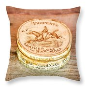 Leather Saddle Soap Throw Pillow