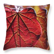 #leave Throw Pillow