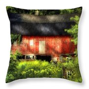 Leave Our Farms Throw Pillow