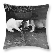 Leave Some Throw Pillow