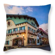 Leavenworth Alps Throw Pillow