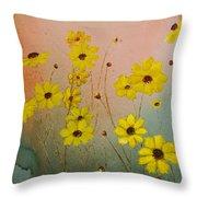 Leavenworth's Tickweed Throw Pillow
