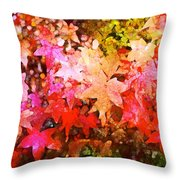Leaves 11 Throw Pillow