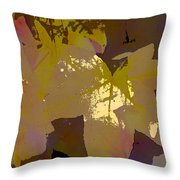 Leaves 9 Throw Pillow