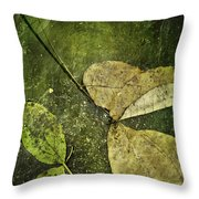 Leaves Afloat Throw Pillow