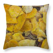 Leaves Alone Throw Pillow