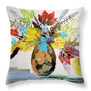 Leaves And Fronds Throw Pillow