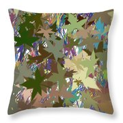 Leaves And Grass Abstract Throw Pillow