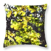 Leaves Blowing Throw Pillow