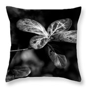 Leaves - Bw Throw Pillow