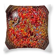 Leaves In A Bubble Throw Pillow