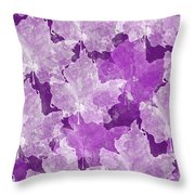 Leaves In Radiant Orchid Throw Pillow
