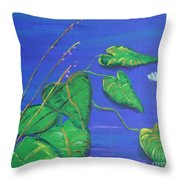 Leaves In The Wind Throw Pillow