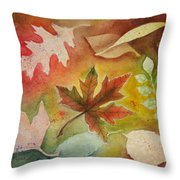 Leaves L Throw Pillow