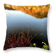 Leaves On The Lake Throw Pillow