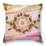 Leaves Rosette 2 Throw Pillow by Bedros Awak