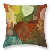 Leaves Vl Throw Pillow