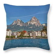 Leaving Brunnen Throw Pillow