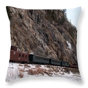 Leaving Cascade Canyon Throw Pillow