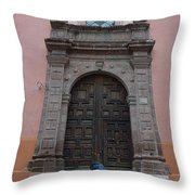 Leaving Church Lighthearted Throw Pillow