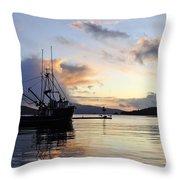 Leaving Safe Harbor Throw Pillow