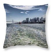 Leaving San Francisco Throw Pillow