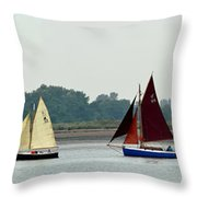 Leaving The Colne Throw Pillow