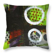Leaving The Dark Abstract  Throw Pillow