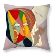 Leaving The Mask Throw Pillow