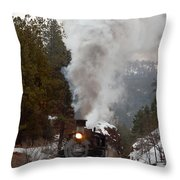 Leaving The Rockwood Cut Throw Pillow