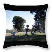 Lebanon Cemetery Oklahoma Throw Pillow