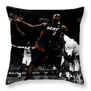 Lebron And D Wade Showtime Throw Pillow